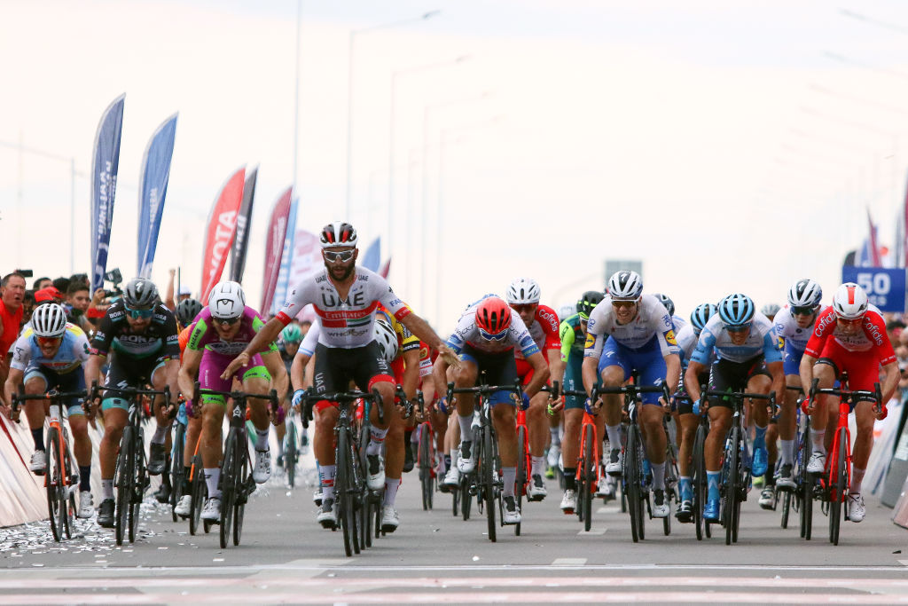 Fernando Gaviria (UAE Team Emirates) wins stage 2 of Vuelta a San Juan