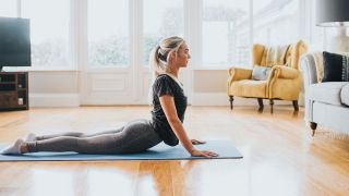 Yoga for back pain: Image shows woman doing yoga pose