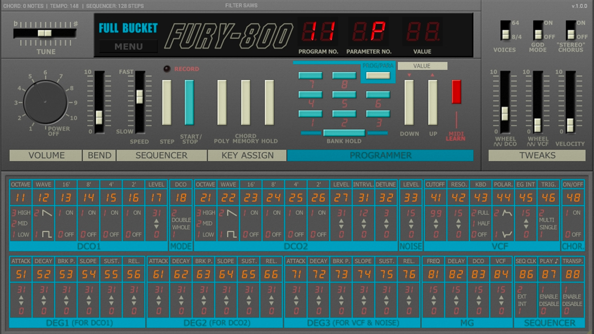 Korg's Poly-800, a classic '80s polysynth, has been emulated in a free VST/AU plugin