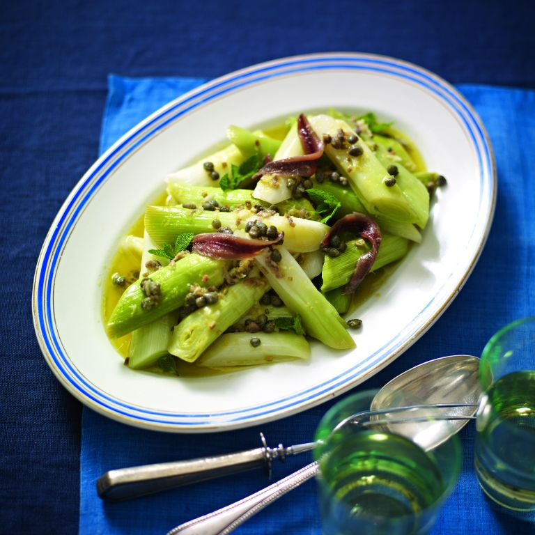 Leeks and Anchovy Vinaigrette