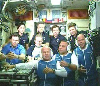 Acrobat, Astronauts Dock At Space Station