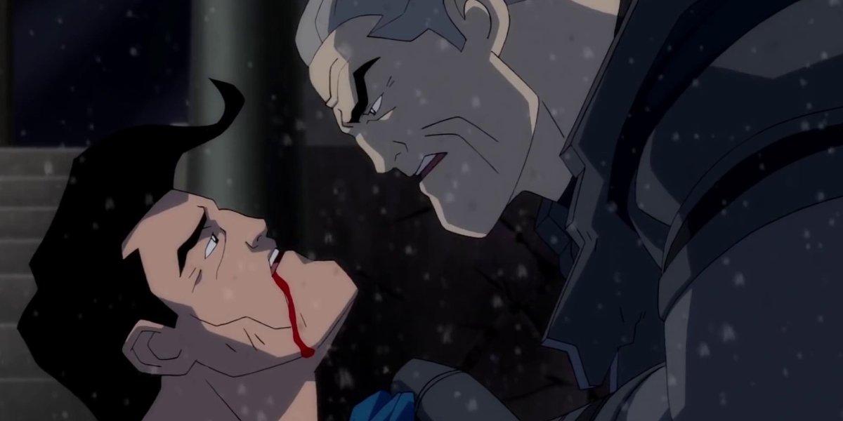 Mark Valley and Peter Weller in Batman: The Dark Knight Returns, Part 2