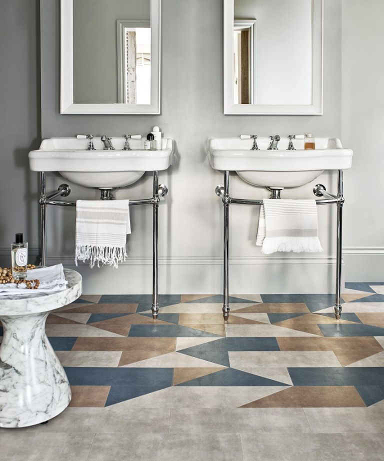 How To Lay Bathroom Floor Tiles And Achieve A Truly Professional Finish Homes Gardens