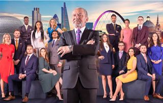 The Apprentice Lord Sugar with his 2018 candidates