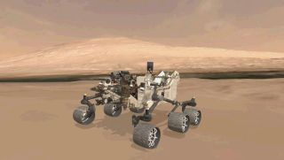 Virtual Model of Curiosity's Position on Landing