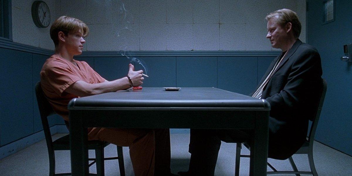 Matt Damon and Stellan Skarsgård in Good Will Hunting