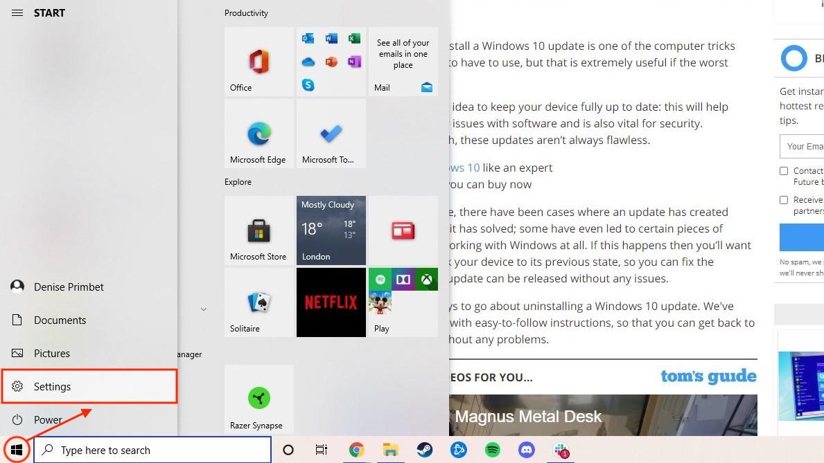 How to change keyboard language in Windows - settings