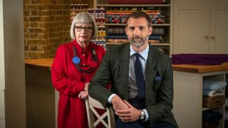 Great British Sewing Bee final judges Esme Young and Patrick Grant