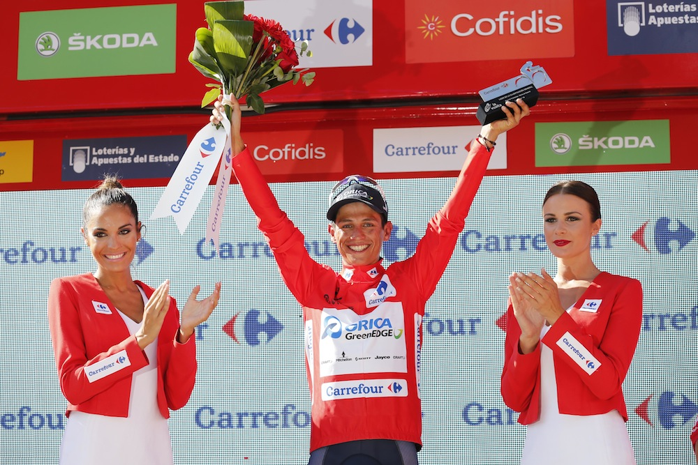 Thumbnail: Esteban Chaves after stage six of the Vuelta a Espana (Sunada).