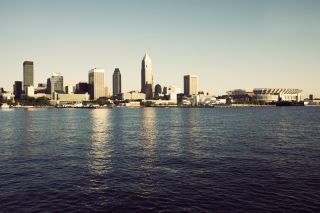 Cleveland, Ohio, viewed from Lake Erie