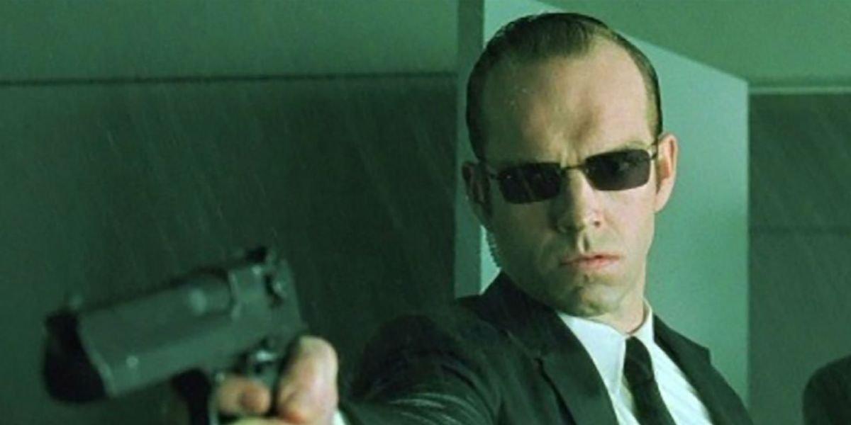Hugo Weaving as Agent Smith in The Matrix