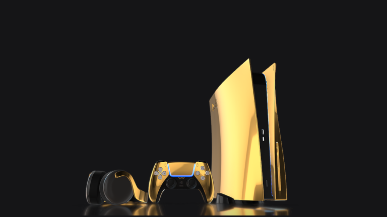 24k gold Sony PS5
