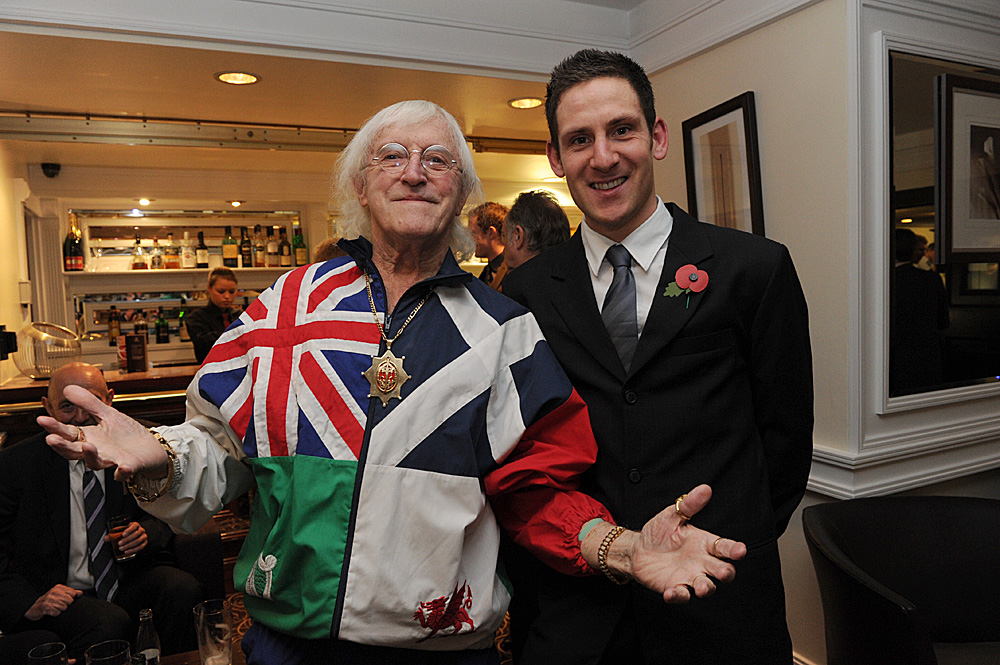 Sir Jimmy Savile with Matt Brammeier, Dave Rayner Dinner 2010