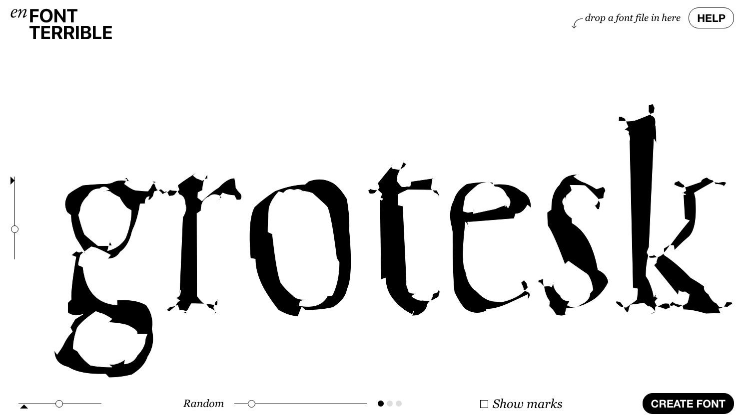 Mutilate your fonts with this amazing browser app | Creative Bloq