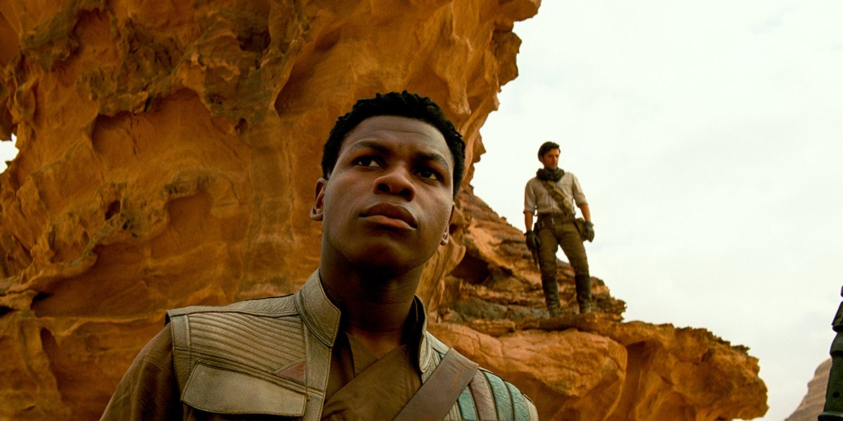 Finn and Poe on lookout duty