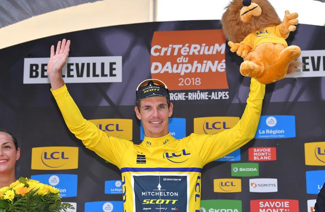Daryl Impey (Mitchelton-Scott) finished third and picked up a time bonus to move into overall lead at Criterium du Dauphine