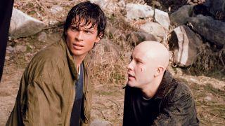 Tom Welling and Michael Rosenbaum on Smallville