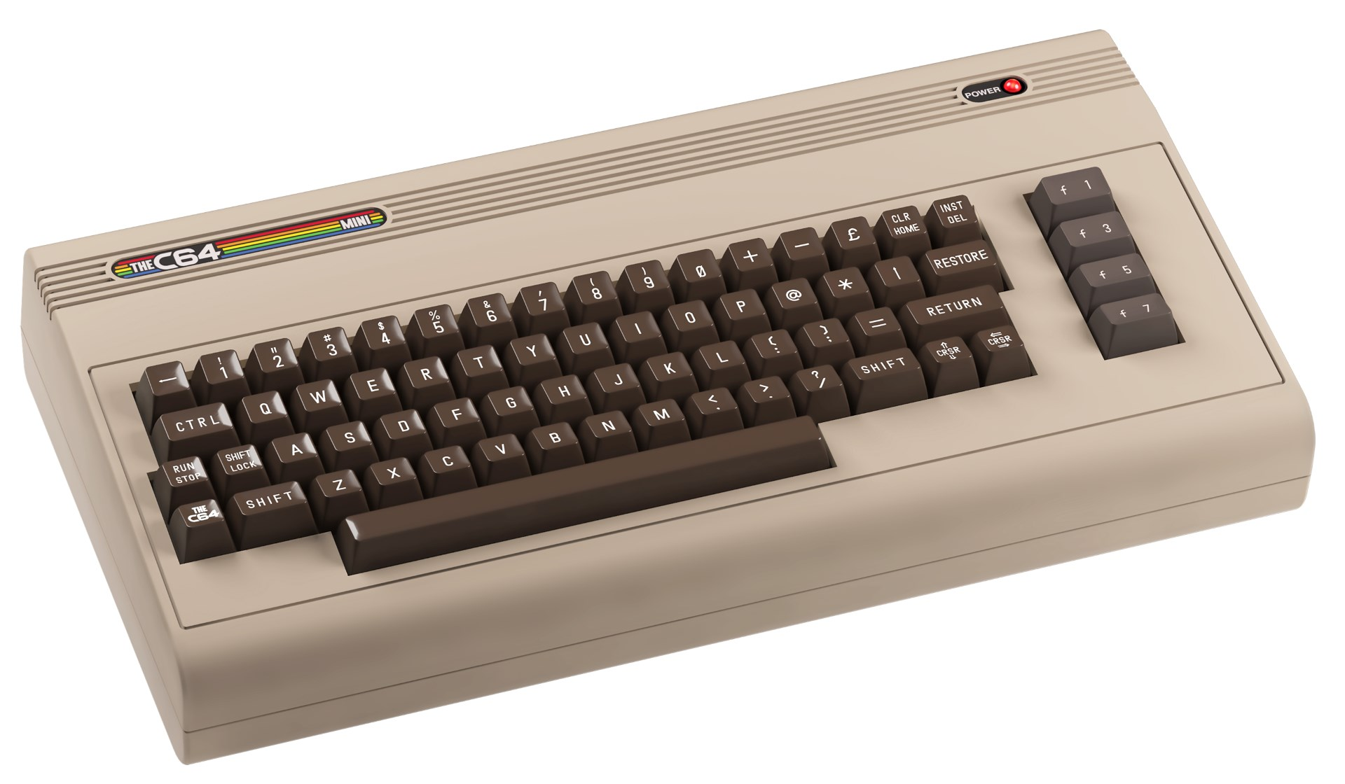 The C64 Mini, with 64 games and BASIC installed, arrives in