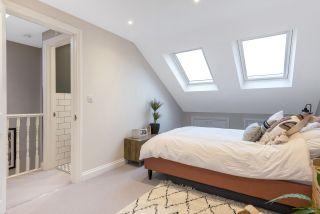 Bedroom and bathroom in loft conversion