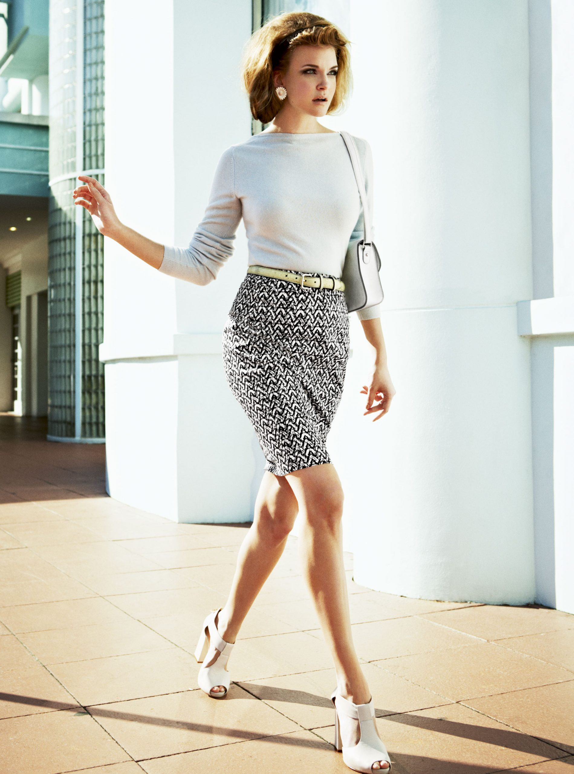 model wearing spring fashion photo