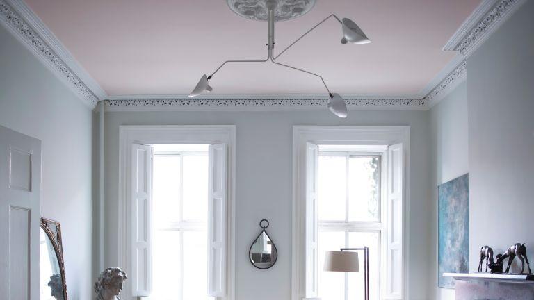 Living room in Stonington Gray, Benjamin Moore