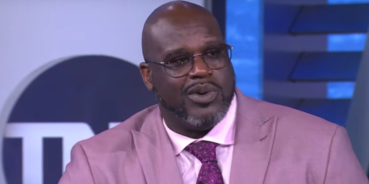 Shaquille O Neal looking surprised on NBA On TNT