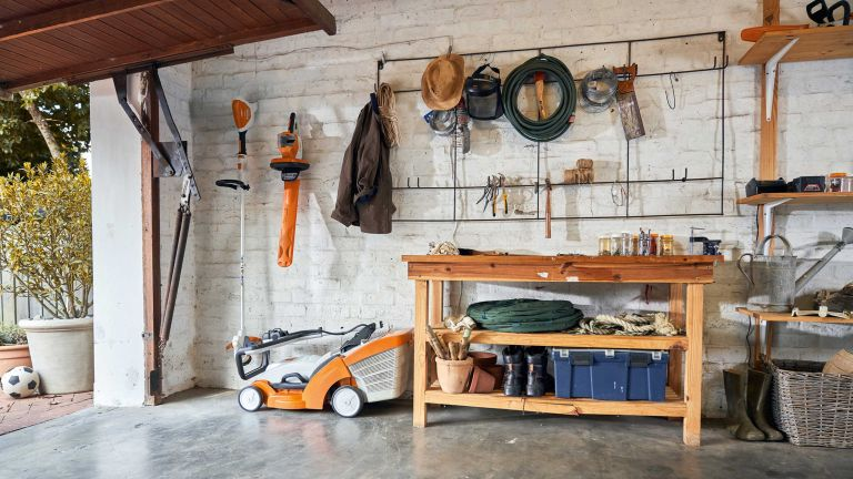 tool storage ideas – stihl garage filled with tools