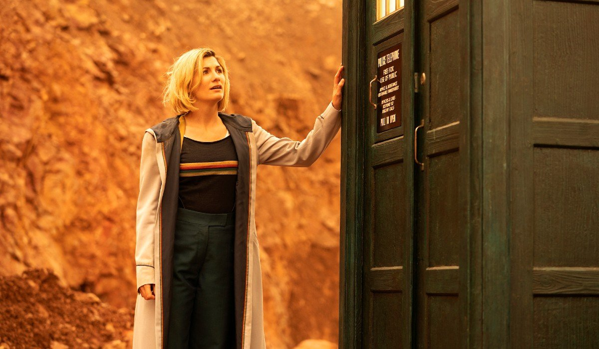 The Doctor touching the TARDIS Doctor Who BBC America