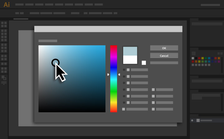 Illustrator tutorials: colour picker