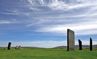 The 5,000-year-old stone circle at the site of Stenness on the Isle of Orkney was designed with a number of astronomical alignments.