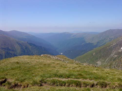 Transfagaras mountain range in Transylvania, Romania