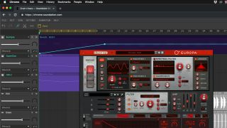 Europa synth running in Soundation online DAW