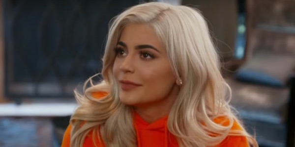 Kylie Jenner blonde hair orange outfit Keeping Up with the Kardashians