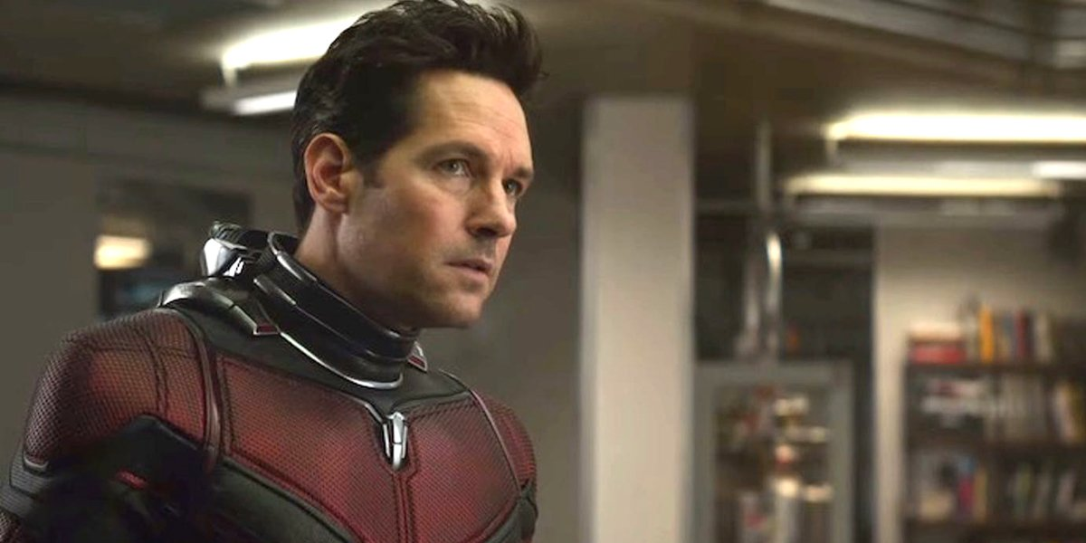 Avengers: Endgame Scott Lang listens closely in Ant-Man suit