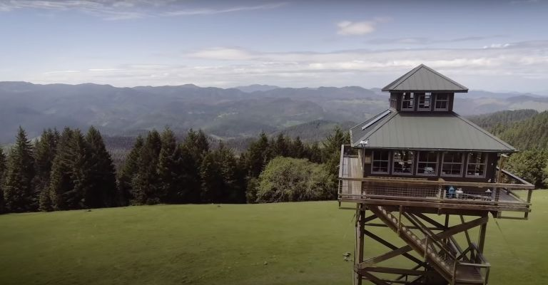 Oregon national park fire tower home