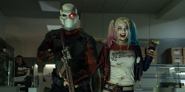 Deadshot and Harley in the office scene of Suicide Squad