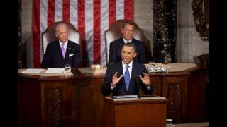President Obama speaking to Congress
