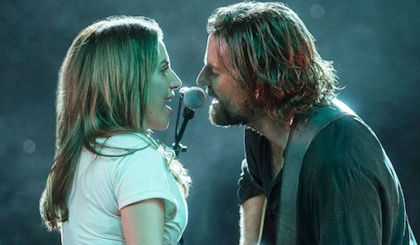 Lady Gaga as Ally and Bradley Cooper as Jackson Maine in A star is Born