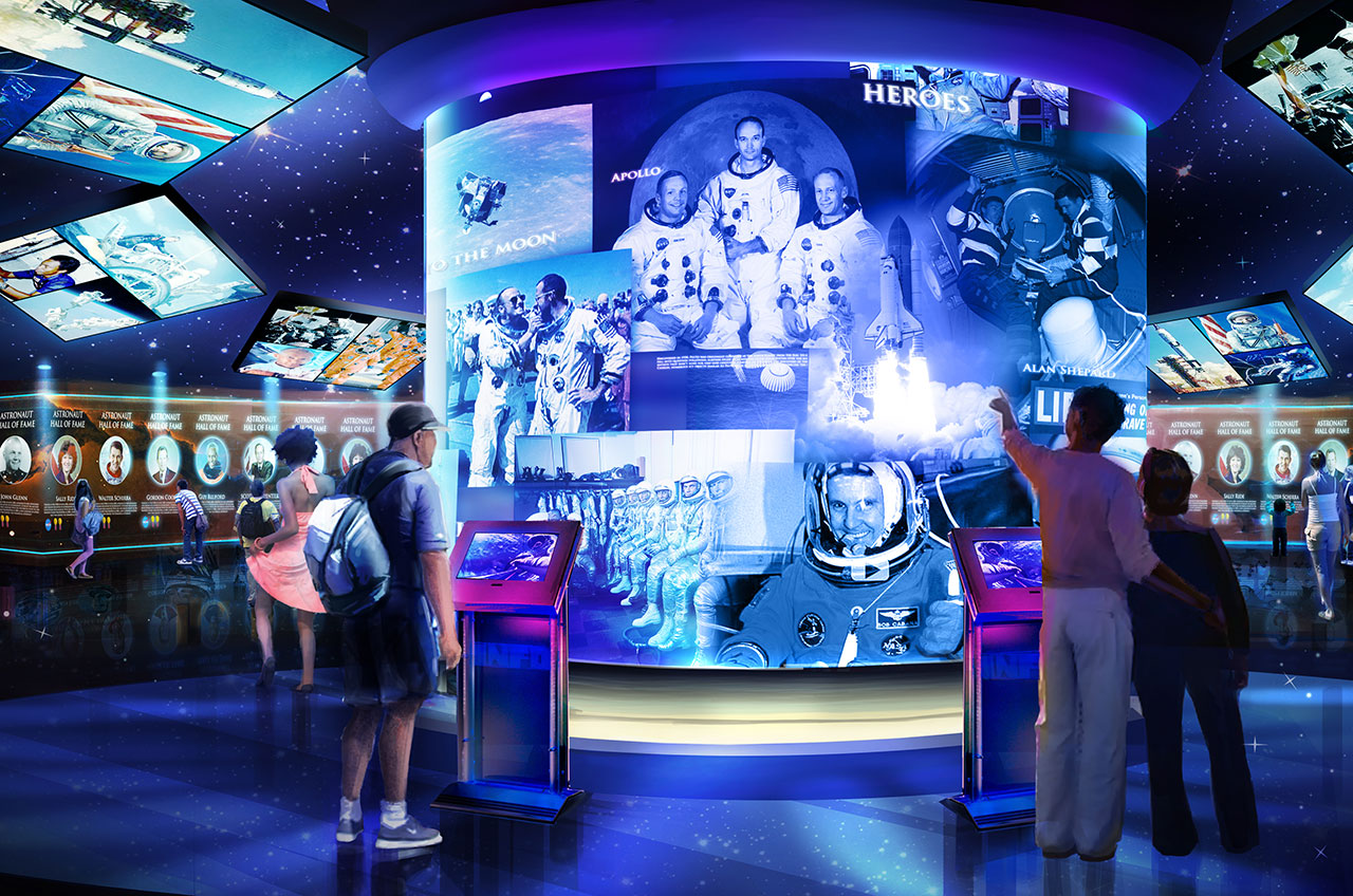 Image result for kennedy space center U.S. Astronaut Hall of Fame