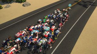 Zwift racing 2021: a peloton of virtual riders in Zwift