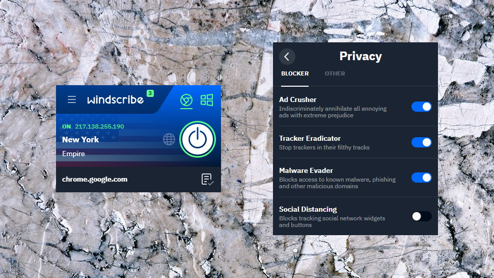 Windscribe Browser Extension Settings