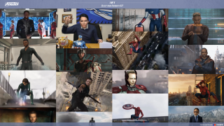 Selections of GIFS from the Avengers films
