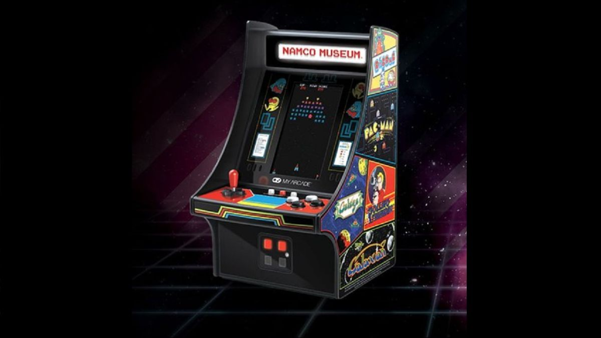 The Namco Museum Mini Player is a tiny arcade for your desk