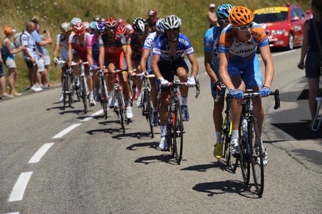Ryder Hesjedal leads escape, Tour de France 2010, stage 12