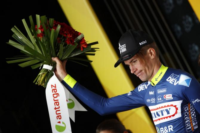Yoann Offredo was awarded the combativity award on stage 2