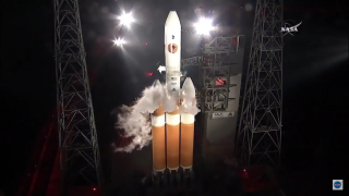 Parker Solar Probe and Delta IV Heavy Rocket on Launch Pad