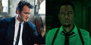 Quentin Tarantino in Reservoir Dogs and Chris Rock in Spiral: From the Book of Saw, pictured side by side.