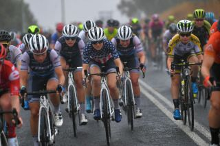 Trek-Segafredo pile on the pressure during the 2020 women's Cadel Evans Great Ocean Road Race in Australia in February