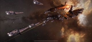 """""""EVE Echoes,"""" a mobile MMO spin-off of """"EVE Online,"""" is coming in August 2020."""