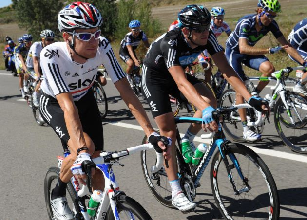Bradley Wiggins and Ian Stannard, Vuelta a Espana 2011, stage 16